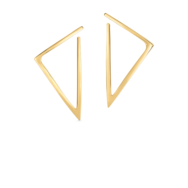 Bold Triangle Earring (18k Yellow Gold)