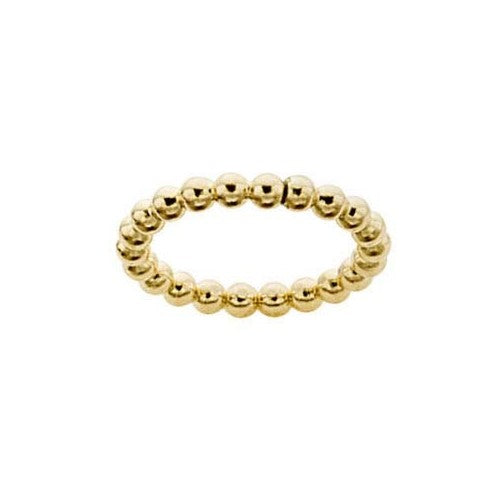 3MM 12/20 Yellow Gold Filled Beaded Ring Size 6