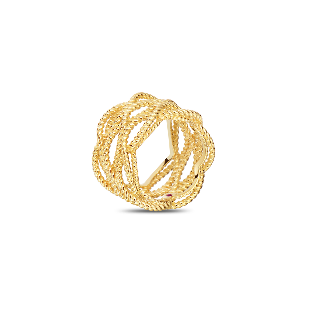 Twisted Barocco Ring (18k Yellow Gold)