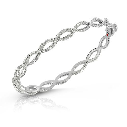 Barocco Bangle Bracelet (18k White Gold)