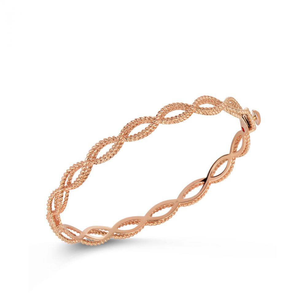 Barocco Bangle Bracelet (18k Rose Gold)