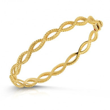 Barocco Bangle Bracelet (18k Yellow Gold)