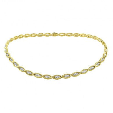 Diamond Barocco Collar Necklace 1.51ct (18k Yellow Gold)