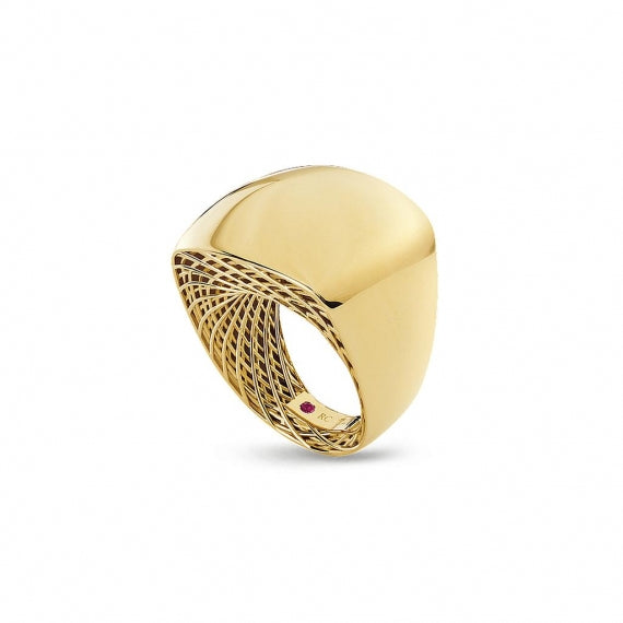 Square Golden Gate Ring (18k Yellow Gold)