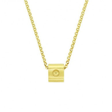 Mini Pois Moi Cube Pendant Necklace (18k Yellow Gold)