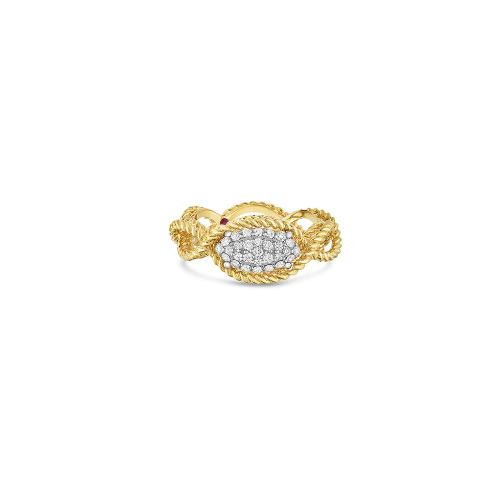 Diamond Barocco Ring .24ct  (18k Yellow Gold)