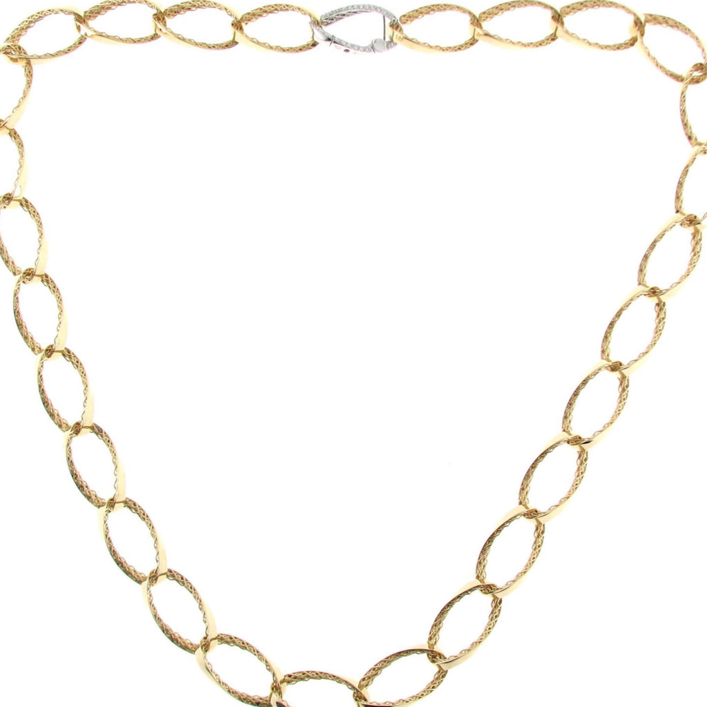 Diamond Golden Gate Necklace (18k Yellow Gold)