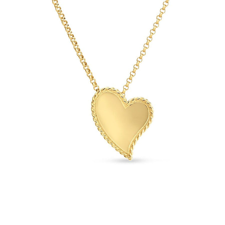 Princess Single Heart Necklace (18k Yellow Gold)