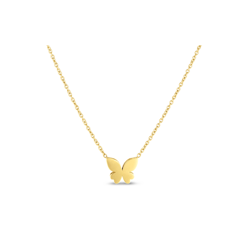 Mariposa Butterfly Necklace (18k Yellow Gold)