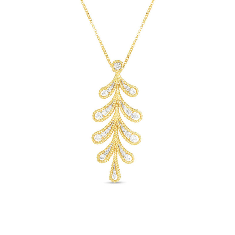 Diamond Byzantine Barocco Necklace .60ct (18k Yellow Gold)