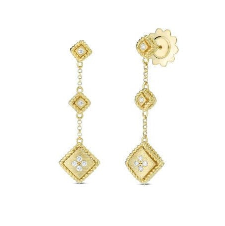 Diamond Drop Palazzo Earring (18k Yellow Gold)