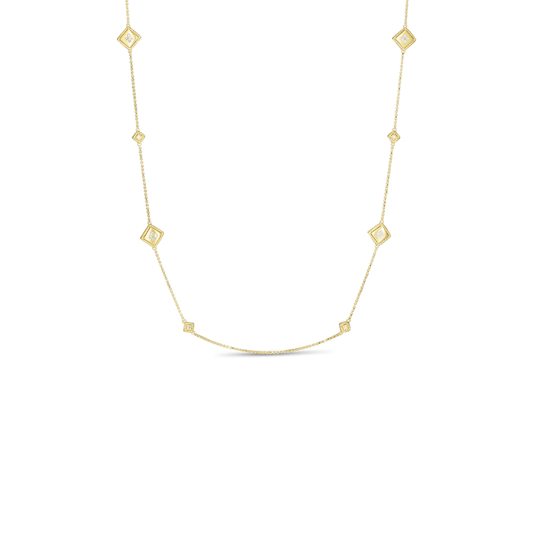Long Diamond Palazzo Necklace (18k Yellow Gold)