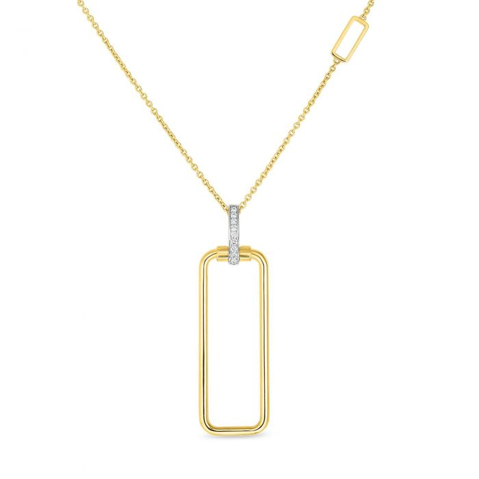Diamond Classica Prisienne Necklace (18k Yellow Gold)
