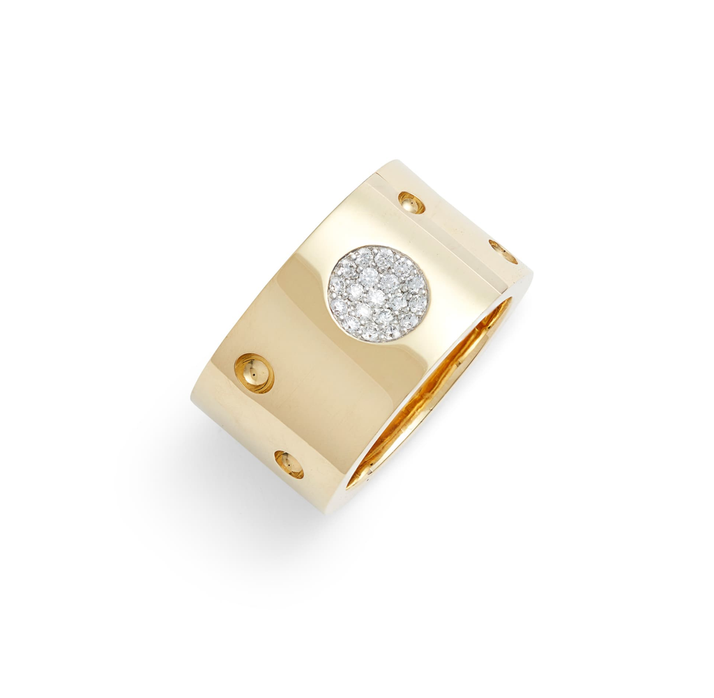 Diamond Pois Moi Luna Ring (18k Yellow Gold)