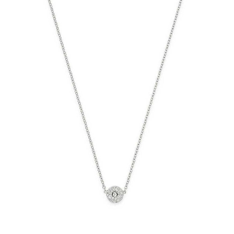 Diamond Circle Pois Moi Necklace (18k White Gold)