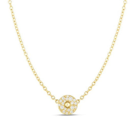 Diamond Circle Pois Moi Necklace (18k Yellow Gold)