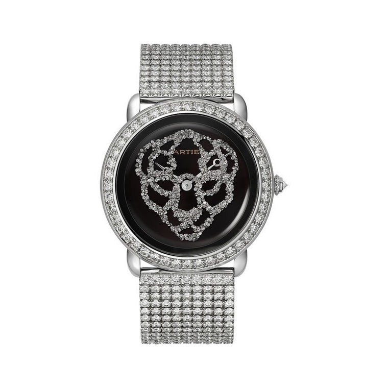 18K White Gold 37mm Revelation Panthere with Diamond Bezel & Diamond Bracelet