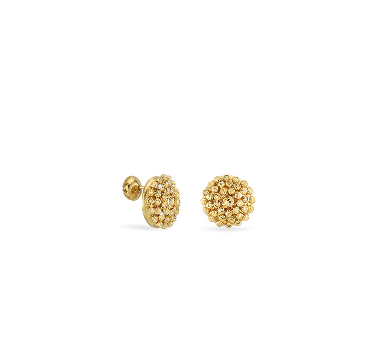 18k Yellow Gold Mimosa Stud Earrings