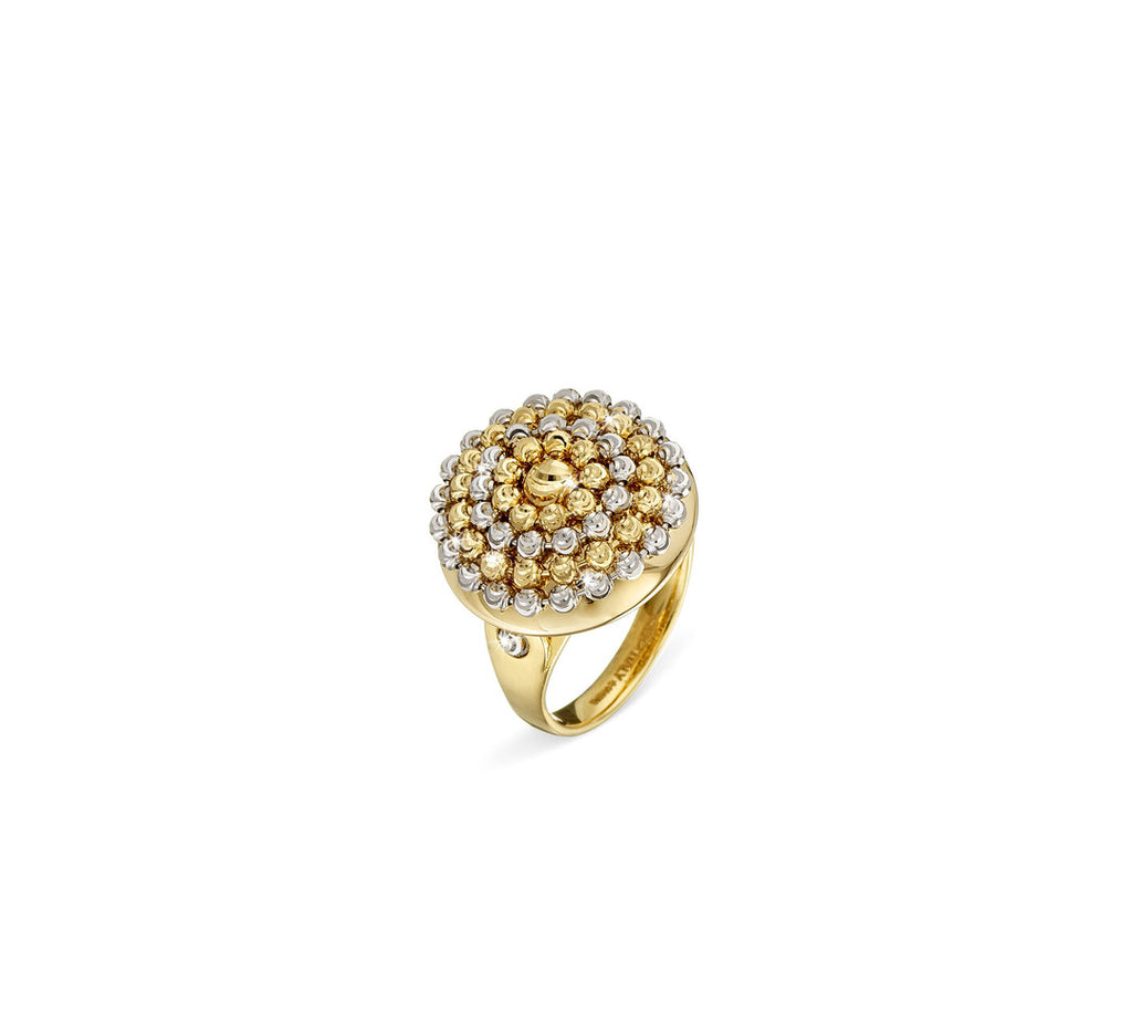 18k Yellow and White Gold Mimosa Ring