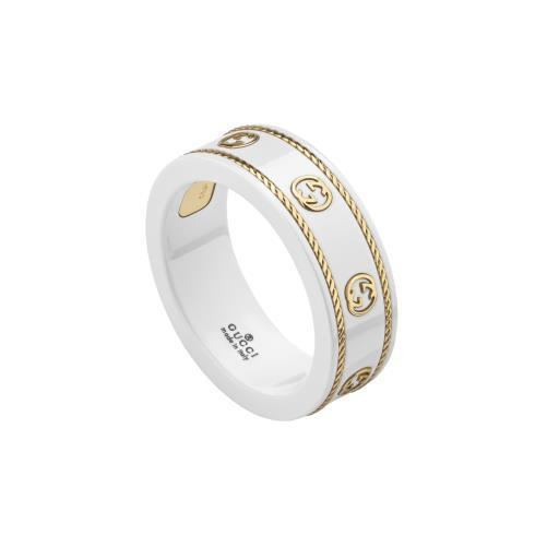 Icon 18K Yellow Gold & White Gold Zarconia Band Ring