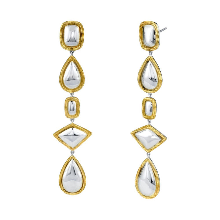 Sterling Silver & 18k Yellow Gold Iconic Drop Earrings