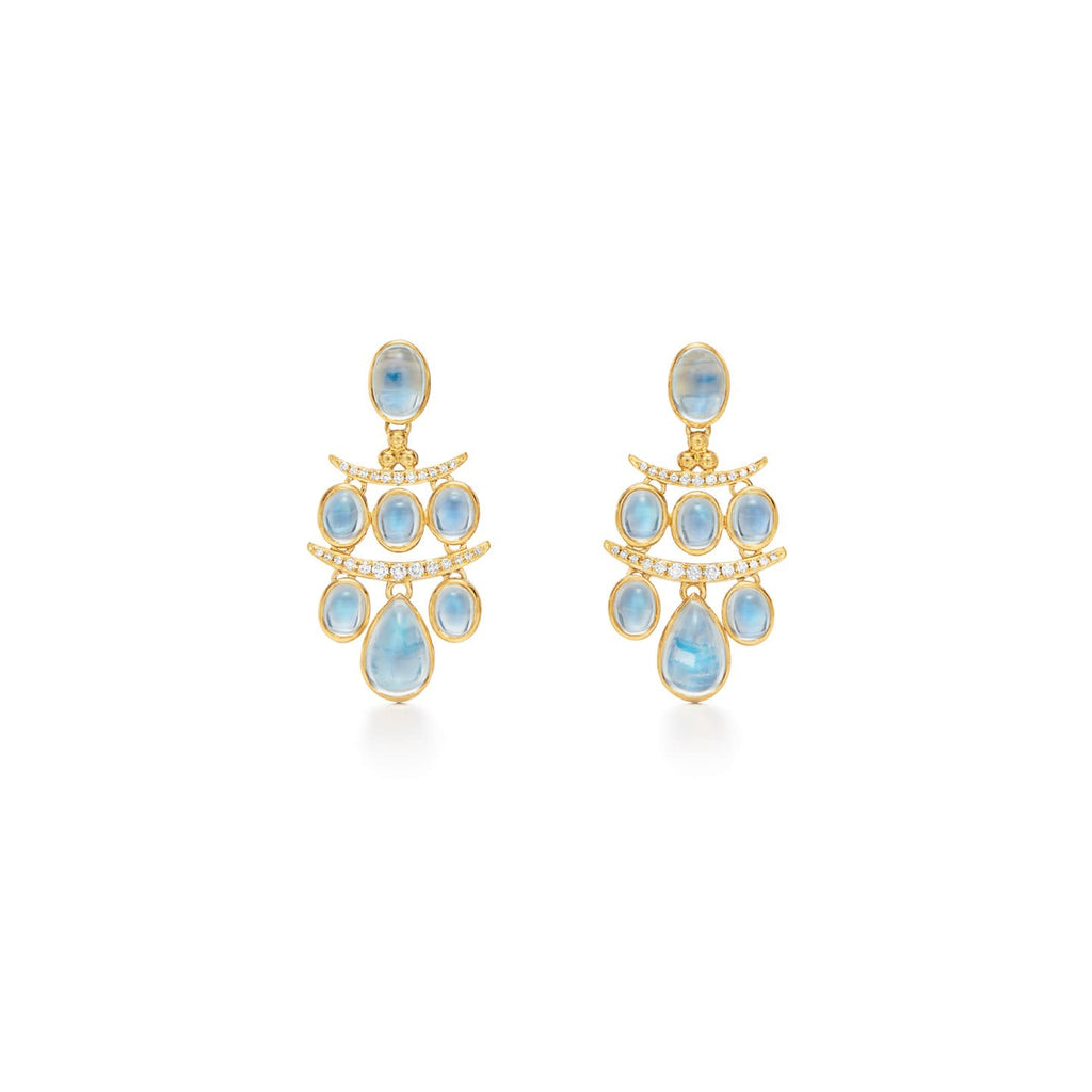 18k Yellow Gold Seta Small Moonstone Drop Earrings