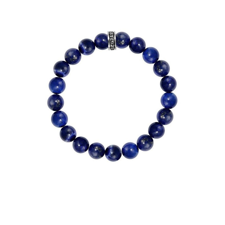 Blue Lapis 10MM Beaded Bracelet (King Baby)