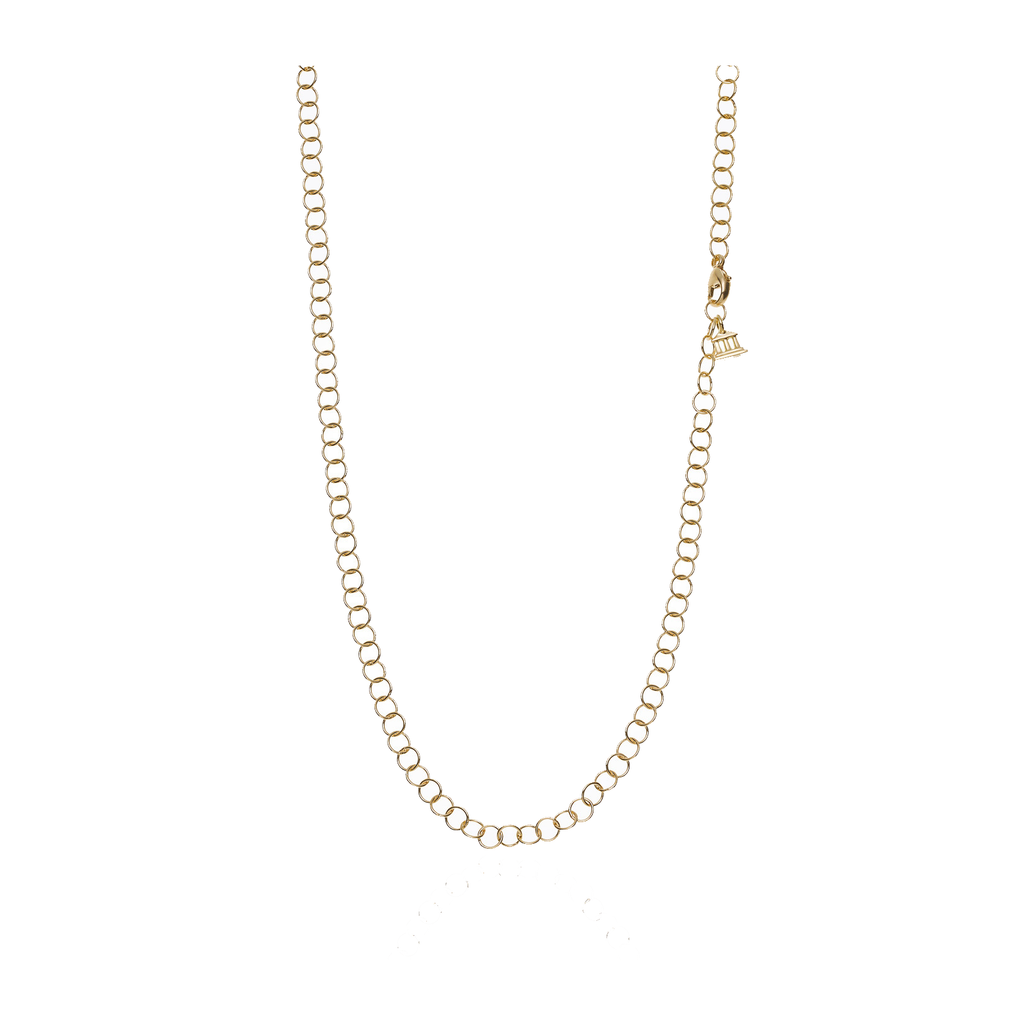 18k Yellow Gold 18' Round Chain
