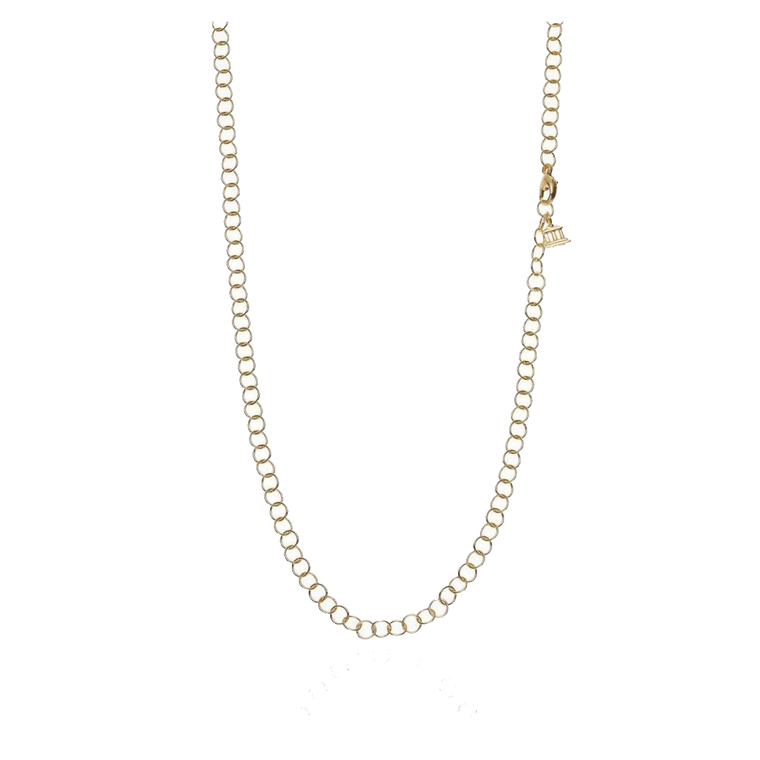 18k Yellow Gold 32' Round Link Chain