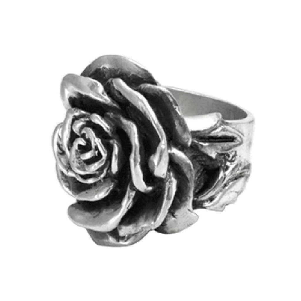 Sterling Silver Large  Rose Ring Sz 7 (King Baby)