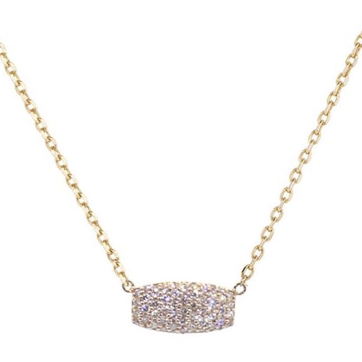 18k Rose Gold Diamond Pave Samantha Pendant Necklace (.25ct)