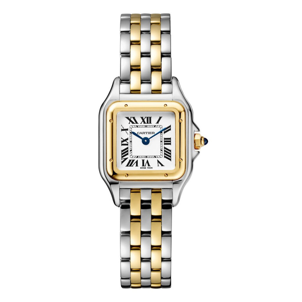 18k Yellow Gold & Stainless Steel Small Quartz Panthere de Cartier