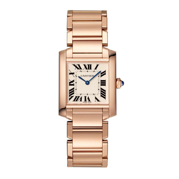 18k Rose Gold Medium Tank Francaise