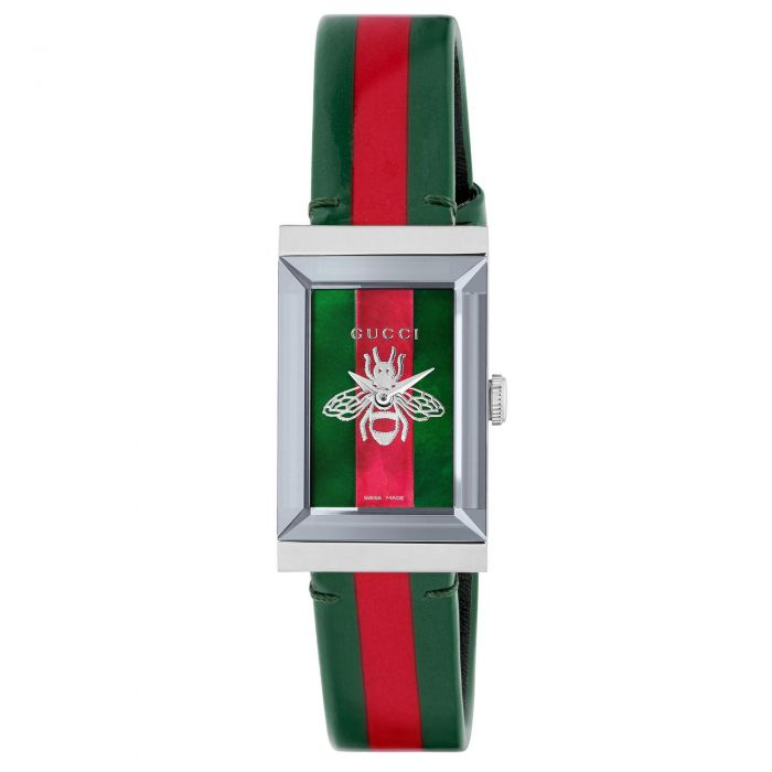G-Frame Quartz Ladies Watch - Red & Green Bee Dial