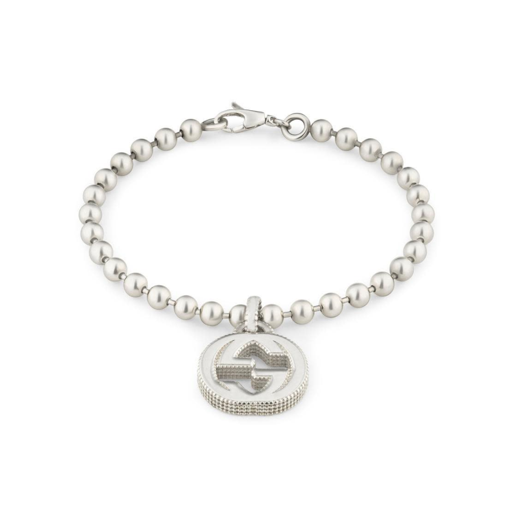 Interlocking G Mens Bracelet (sterling Silver)