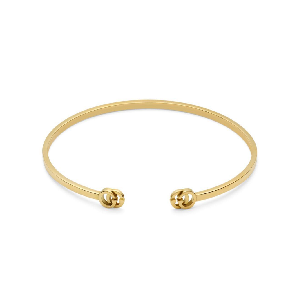 Running G Open Bangle Bracelet (18k Yellow Gold)
