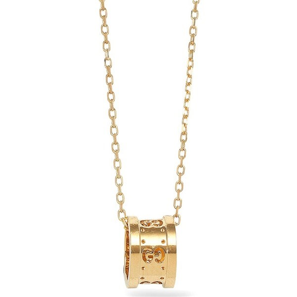 Icon Twirl Pendant Necklace (18k Yellow Gold)
