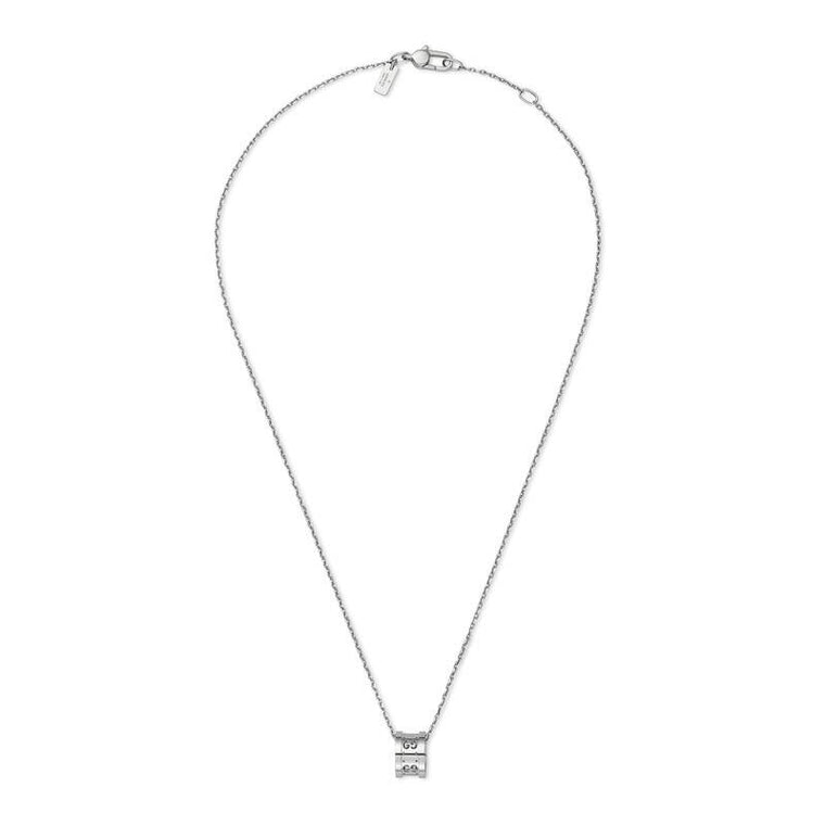 Icon Twirl Pendant Necklace (18k White Gold)