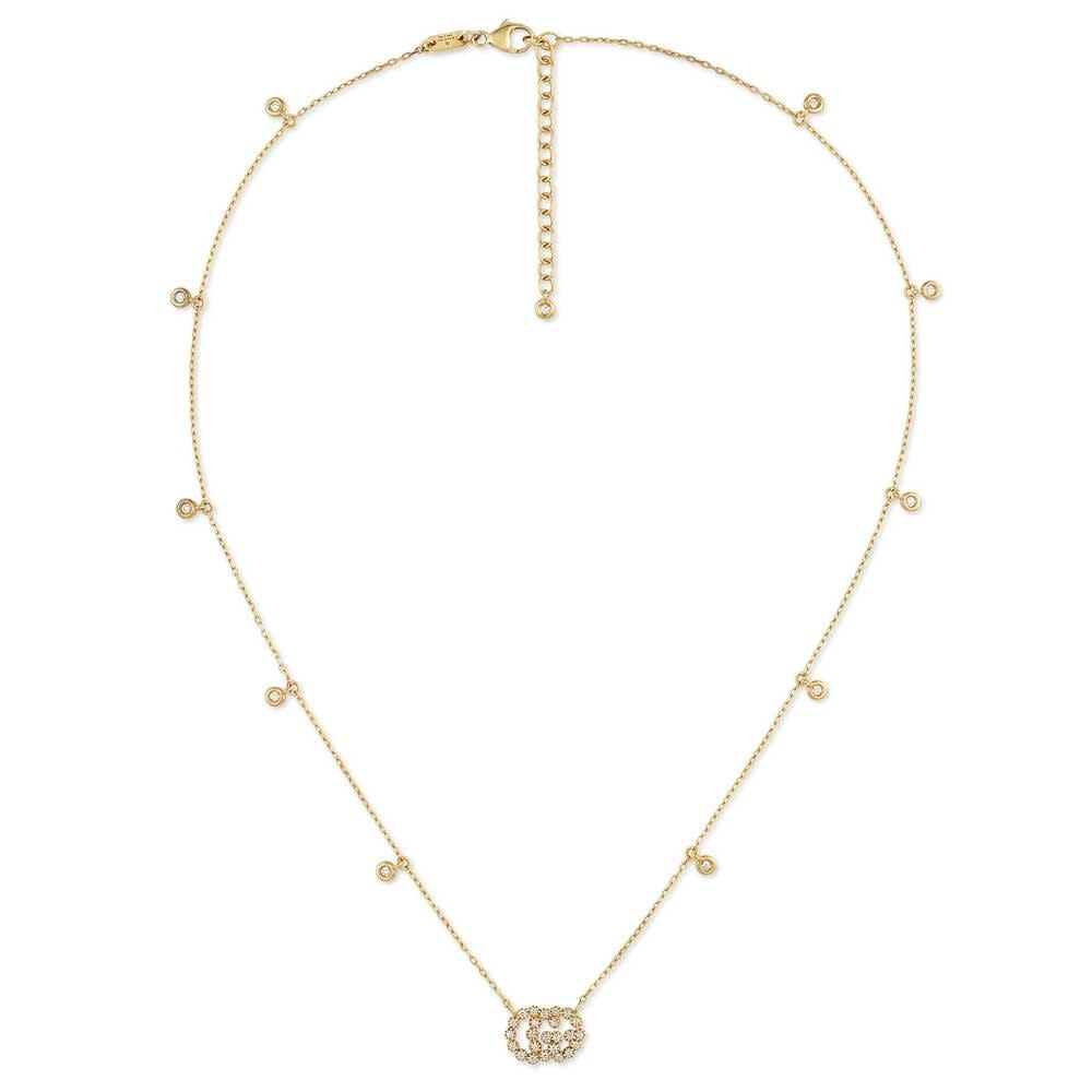 Diamond Running G Necklace (18k Yellow Gold)