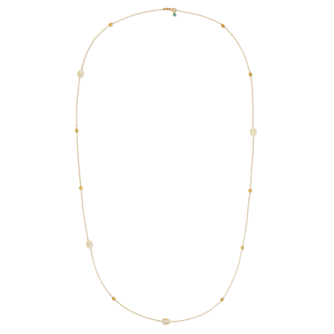 GG Long Station Long Necklace With Topaz (18k Yellow Gold)