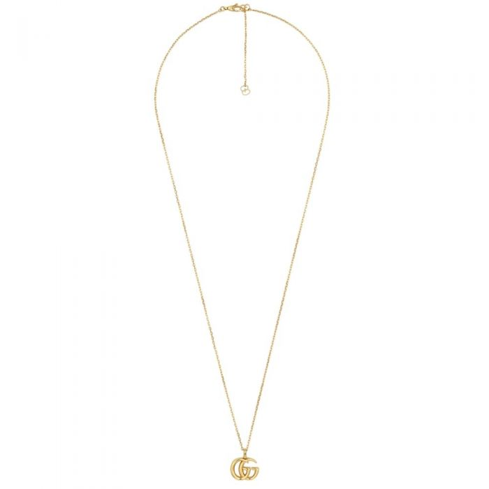 Running G Long Pendant Necklace (18k Yellow Gold)