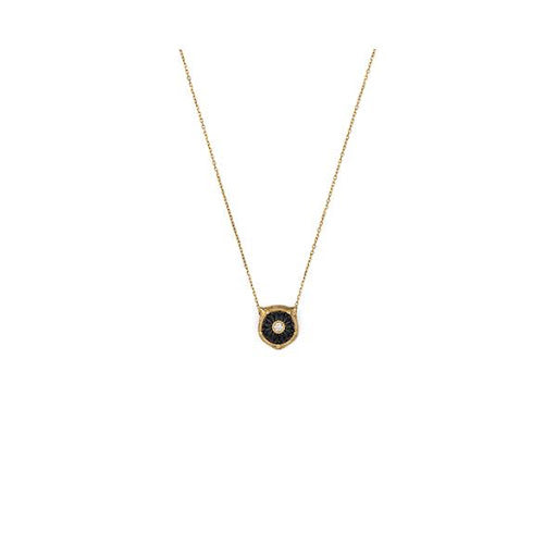 Le Marche Des Merveilles Black Onyx & Diamond Necklace (18k Yellow Gold)