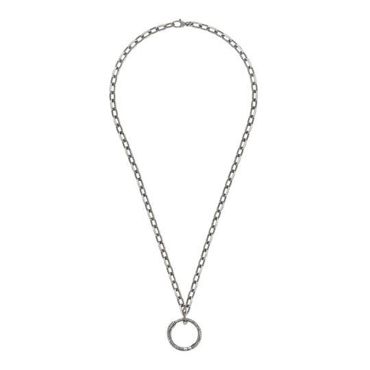 Ouroboros Necklace W-Pendant Ring (sterling Silver)