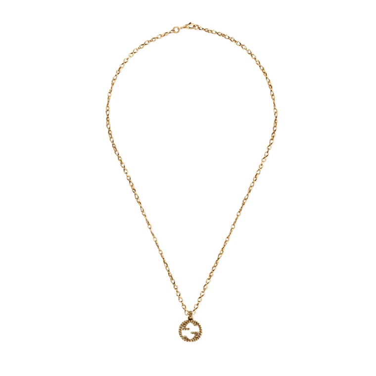Interlocking G Pendant Necklace (18k Yellow Gold)