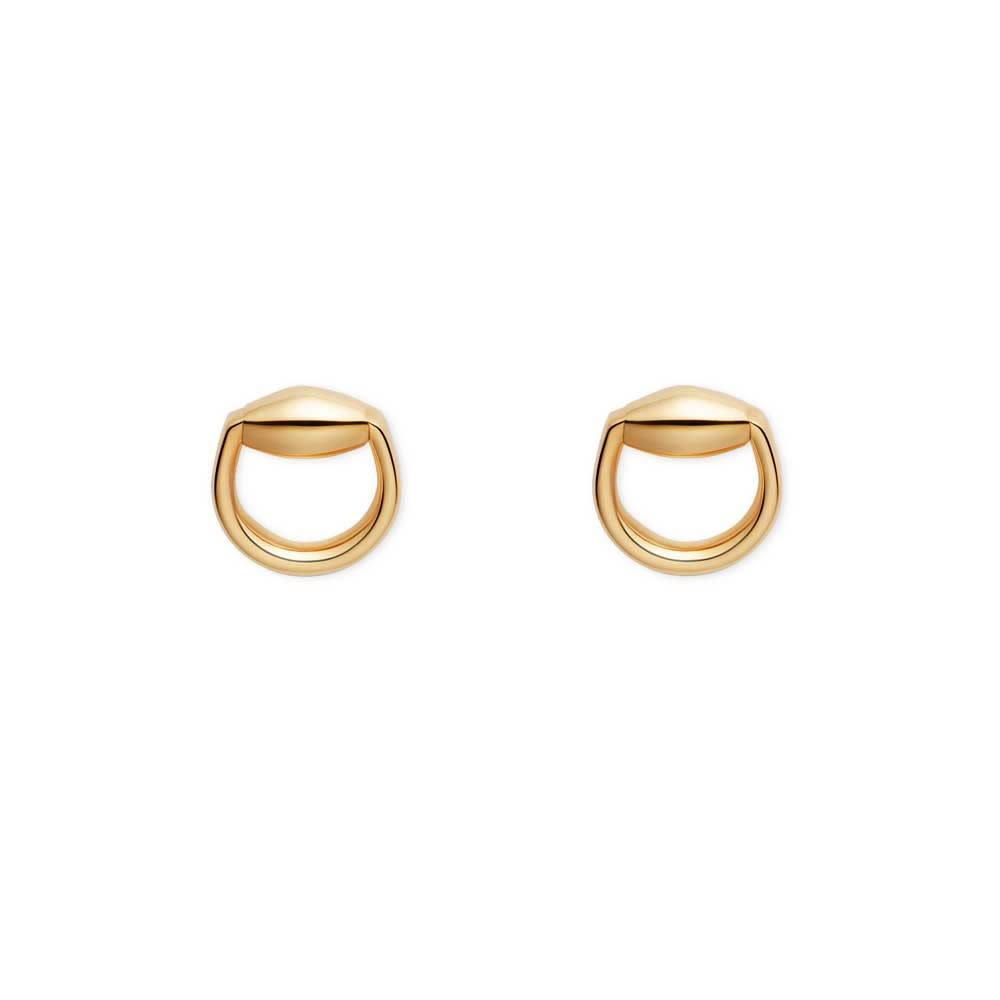 Horsebit Small Stud Earrings (18k Yellow Gold)
