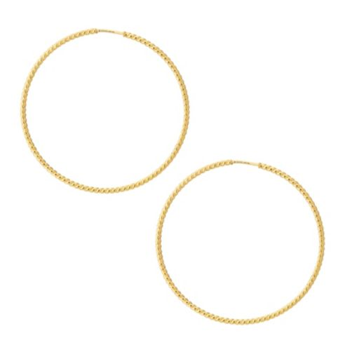 Le Marche Des Merveilles Hoop Earrings (18k Yellow Gold)