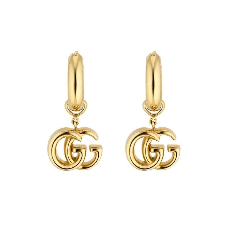 Running G & Hoop Dangle Earrings (18k Yellow Gold)
