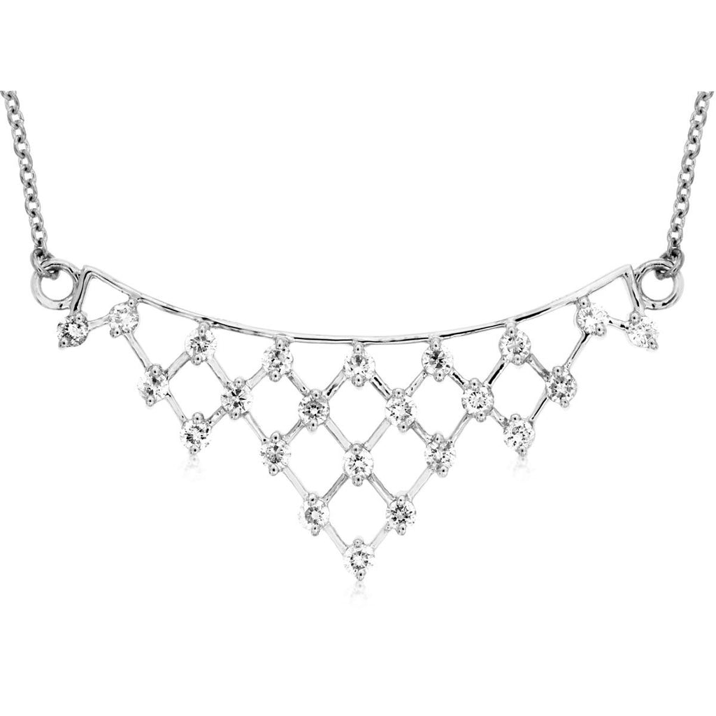 14k White Gold Diamond Necklace (.53ct)