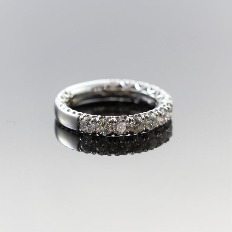 14k White Gold Diamond Band (.84cts)