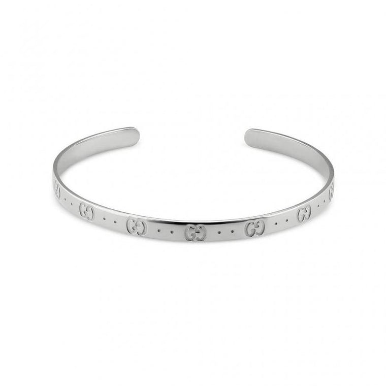 Iconic Cuff Bracelet (18k White Gold)